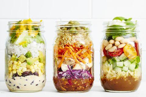 Best Sesame Chicken Slaw Mason Jar Salad Recipe How To Make Sesame Chicken Slaw Mason Jar Salad Goodhousekeeping Com