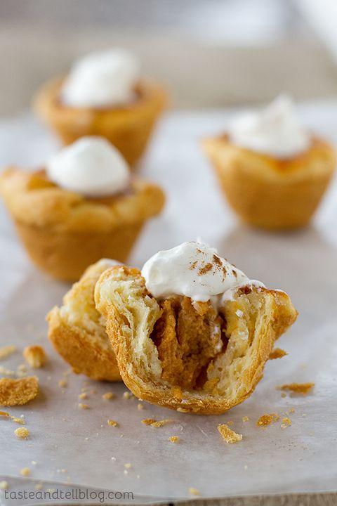 Mini Crescent Pumpkin Pies