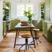 Green Farmhouse Kitchen
