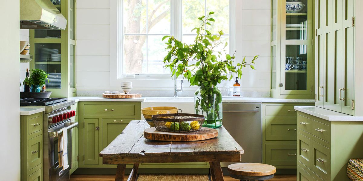 painting kitchen cabinet white in the green wall | Mistakes You Make Painting Cabinets - DIY Painted Kitchen ...