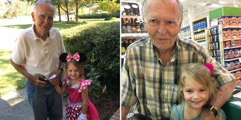 4-year-old befriends 82-year-old man.