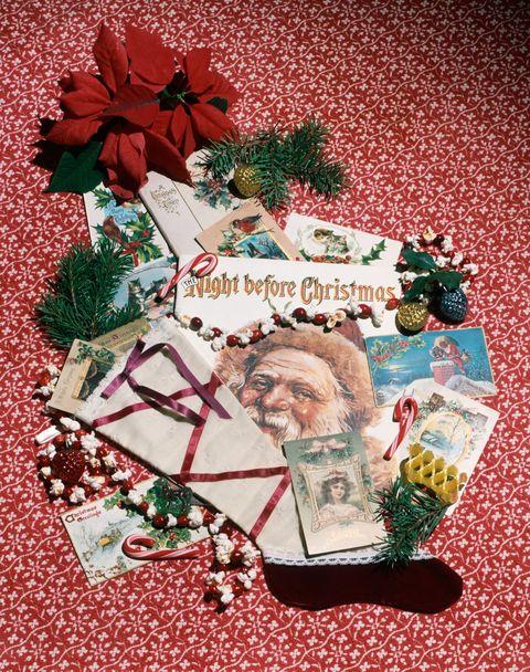 Christmas decoration, Christmas, Holiday, Ribbon, Christmas eve, Present, Facial hair, Creative arts, Fictional character, Holiday ornament,