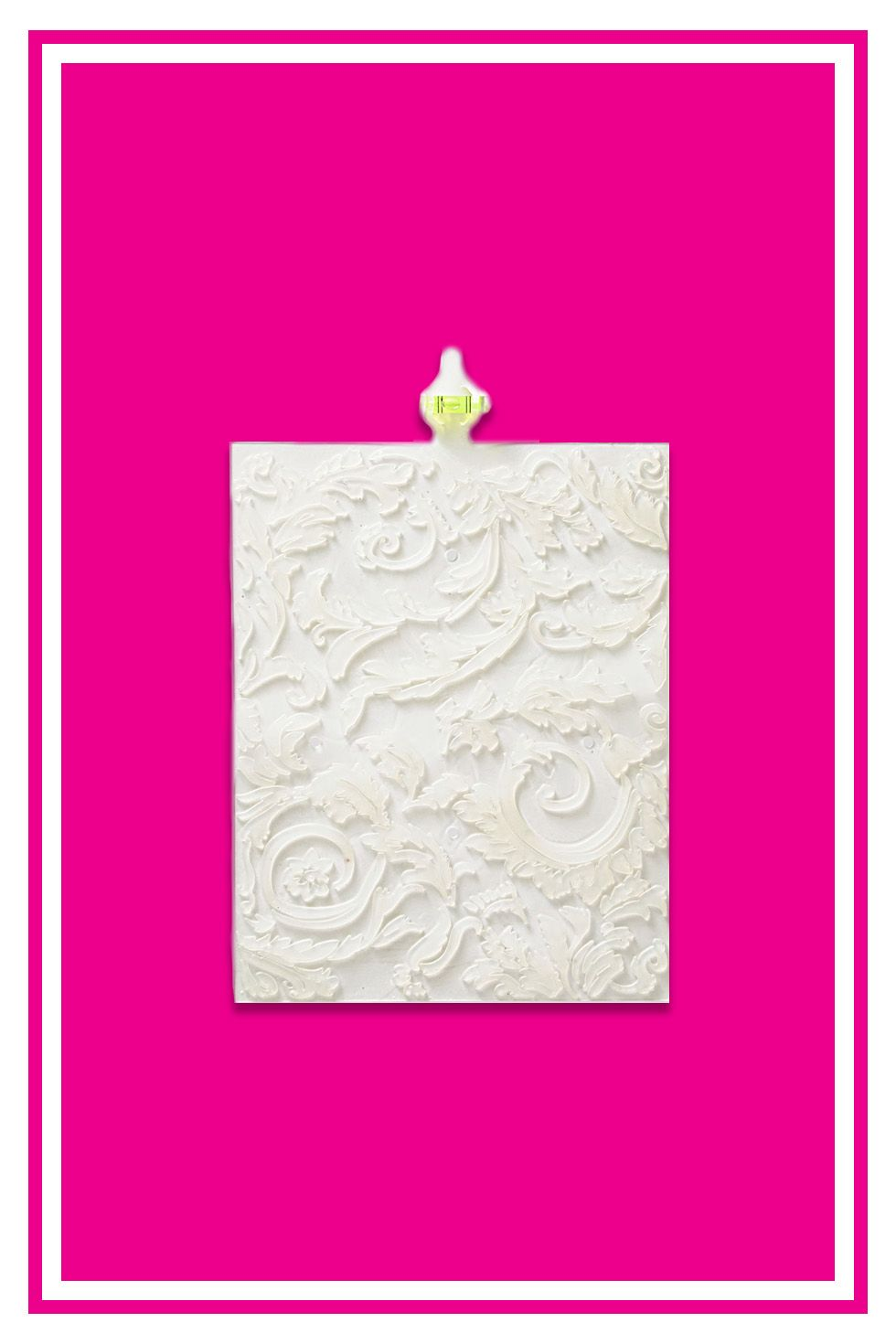 "<p>After playing with materials for 12 years, Laurie Steinfeld created The Original Wall Stamp <i data-redactor-tag=""i"">($30-$35, <a href=""http://originalwallstamp.com/shop/"">originalwallstamp.com</a>)</i>, a flexible, translucent rubber tool with a built-in level for seamless stamping.</p><p>Our panelists loved how easy it was: Pick one of six designs, glide paint on the back and stamp. Laurie says that with practice you can transform a room in less than two hours for a fraction of the cost of wallpapering.</p>"