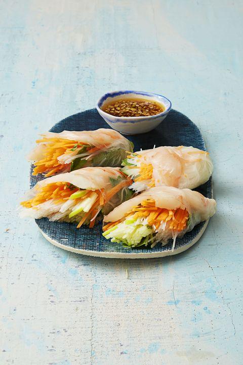 Low Calorie MealsVietnamese Shrimp and Vegetable Rolls
