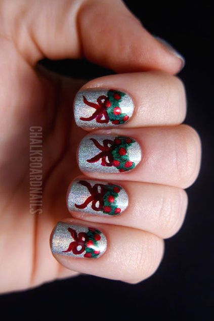Christmas Nail Art - 36 Festive Christmas Nail Art Ideas - Easy Designs For Holiday Nails