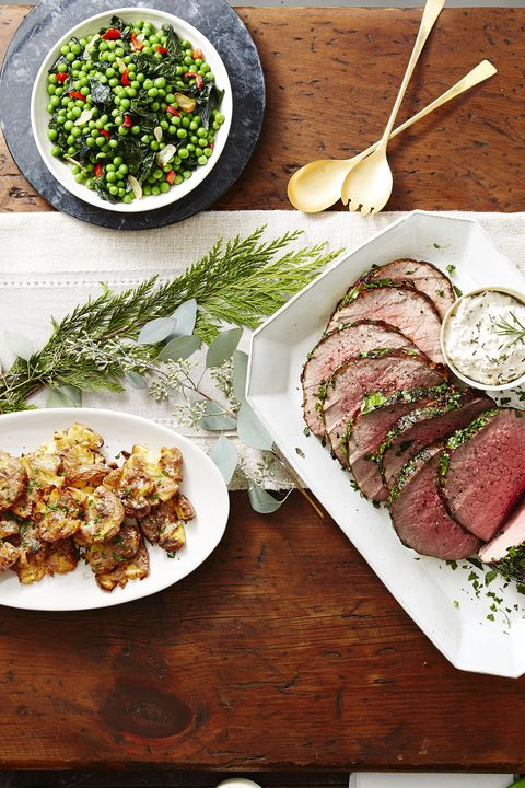 Herb-Crusted Beef with Dijon Cream Sauce