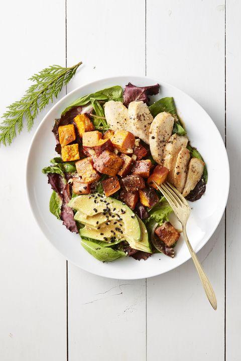chicken breast recipes   roasted sweet potato  chicken salad