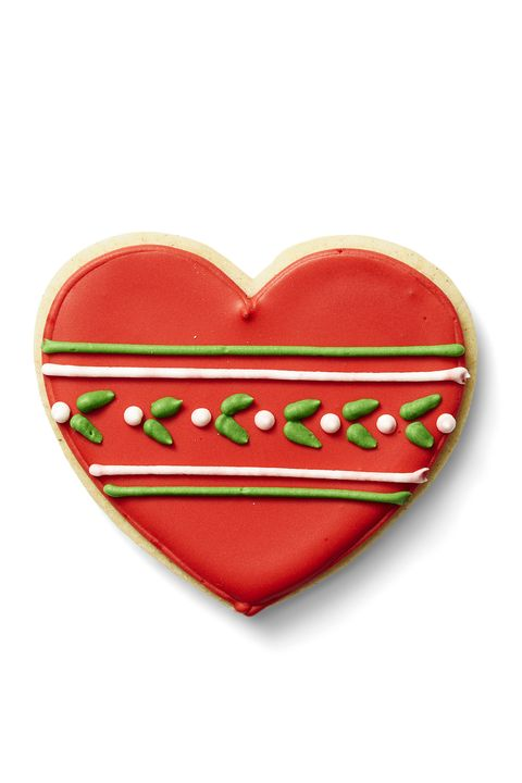 Glazed Holly Hearts - Christmas Cookie Decorating Ideas