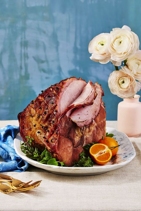 baked ham with root beer glaze  easter dinner ideas