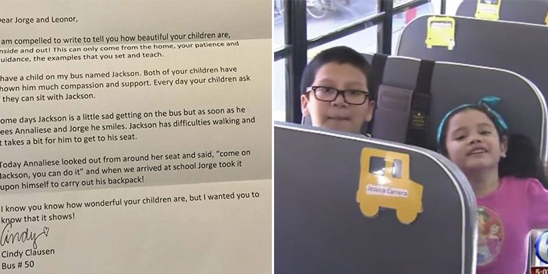 Bus Driver Writes Touching Letter Home After Children's Act of
