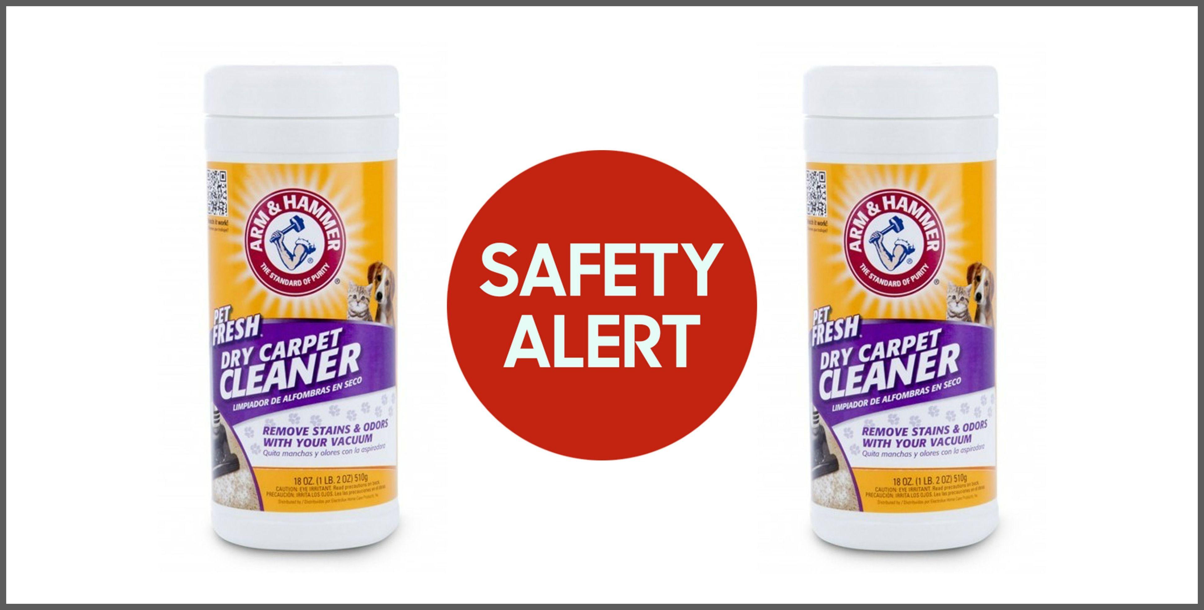 Dry Carpet Cleaning Powder Recalled Due