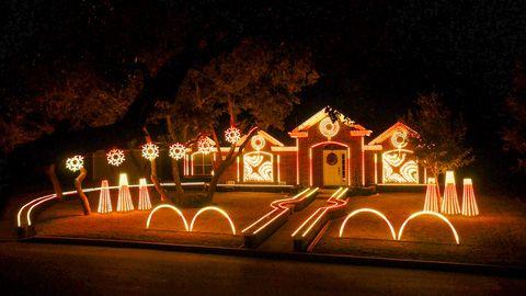 Christmas Light Show.San Antonio Christmas Light Display Johnson Family