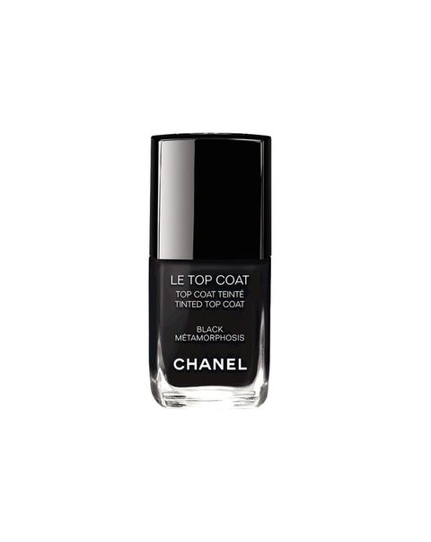 Chanel\'s New Black Top Coat Changes Summer Nail Polishes to Winter ...