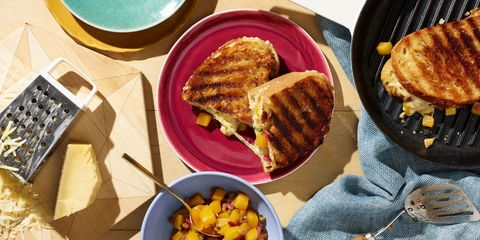 Grilled Cheese with Peach and Mango Tea Chutney