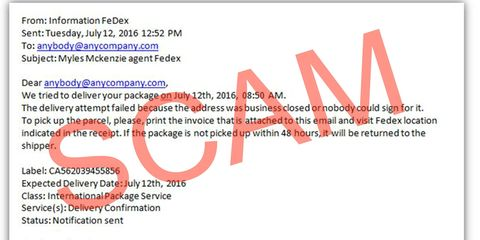 Missed Delivery Notices Could Be Scam