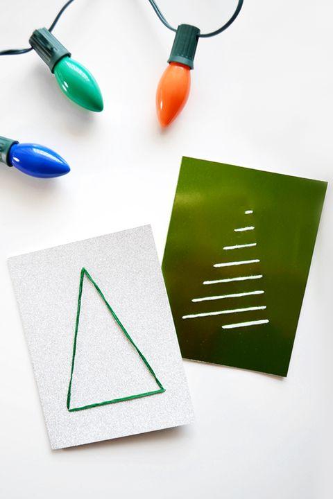 Christmas Tree Cards Ideas.39 Diy Christmas Cards Homemade Christmas Card Ideas 2019