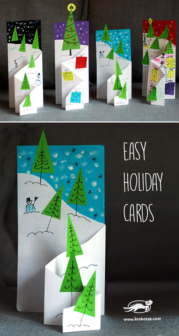 Easy Christmas Cards Designs.36 Diy Christmas Cards How To Make Homemade Holiday Cards