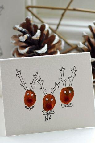 Reindeer Christmas Cards Hand Prints.39 Diy Christmas Cards Homemade Christmas Card Ideas 2019