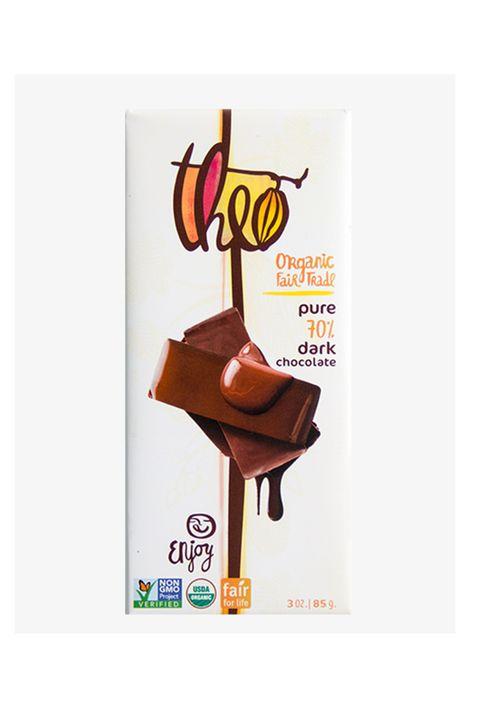 Theo Organic 70% Pure Dark Chocolate Bar