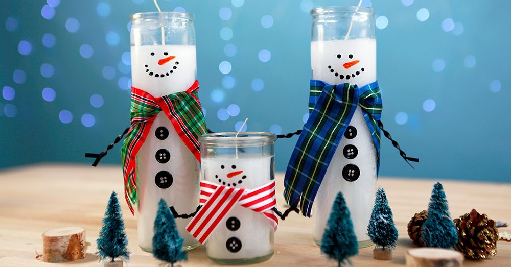 How To Turn Dollar Store Candles Into Adorable Snowmen Holiday Diy