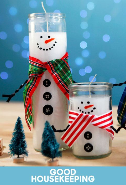 How To Turn Dollar Store Candles Into Adorable Snowmen