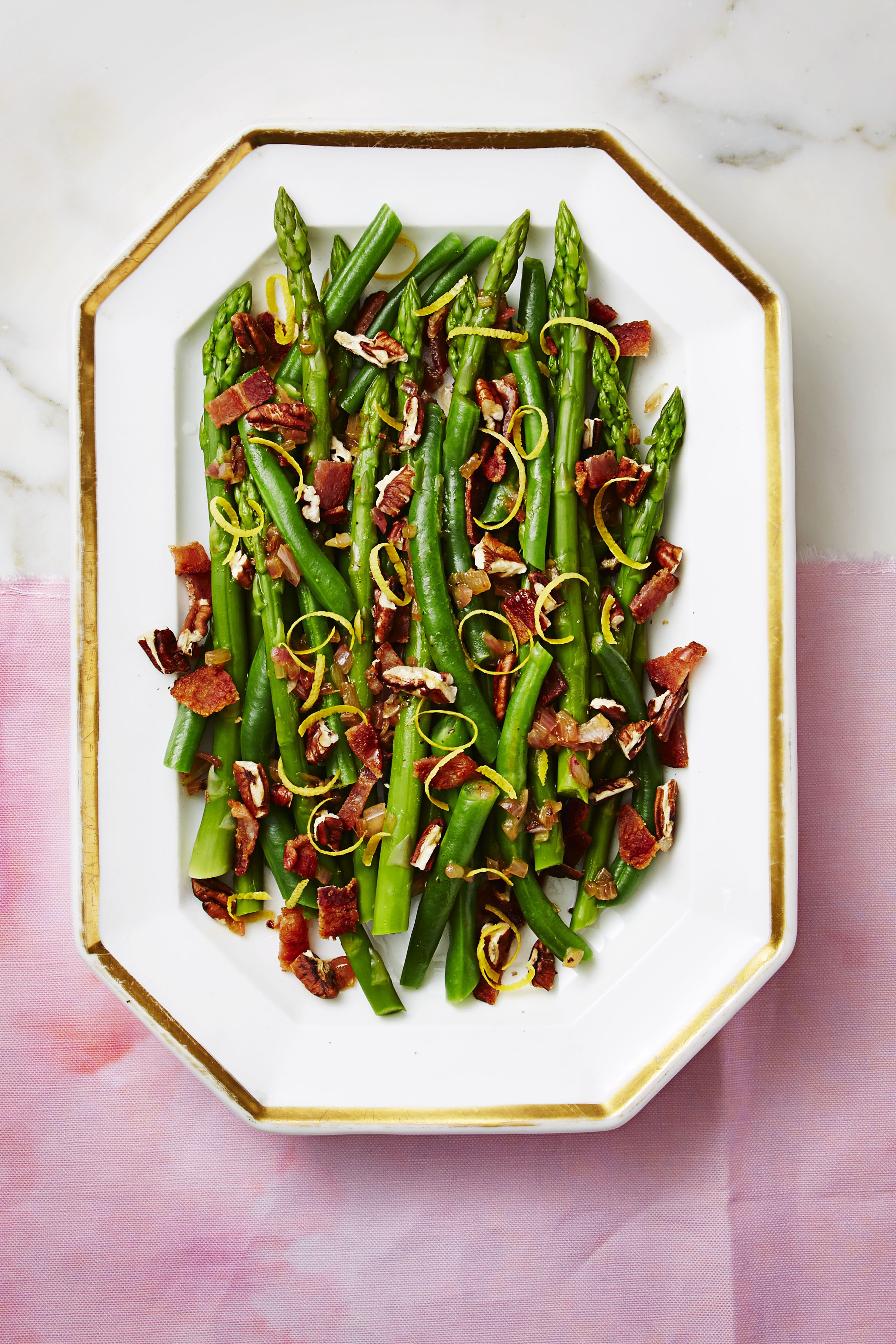 Nutty Green Beans and Asparagus with Bacon