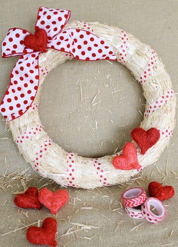 Valentine Wreath Part - 24: 30 DIY Valentineu0027s Day Wreaths - Homemade Door Decorations For Valentineu0027s  Day