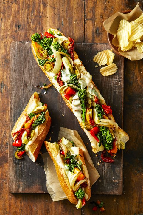 Provolone Veggie Party Subs — Best Healthy Sandwiches