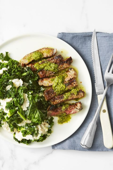 steak with kale and white bean mash    best kale recipes