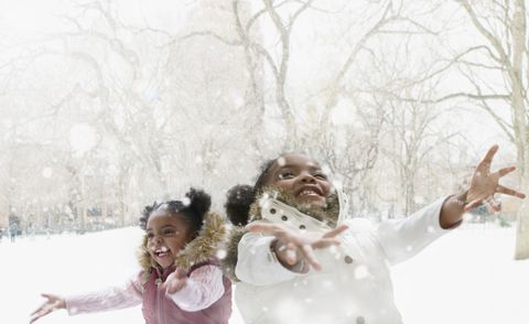 Winter, Mouth, Cheek, People, Hand, Happy, Child, Facial expression, People in nature, Freezing,