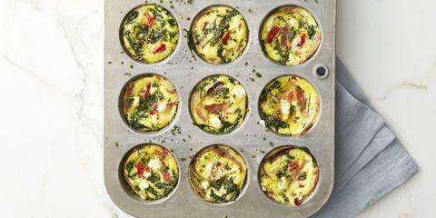 Spinach and Prosciutto Frittata Muffins