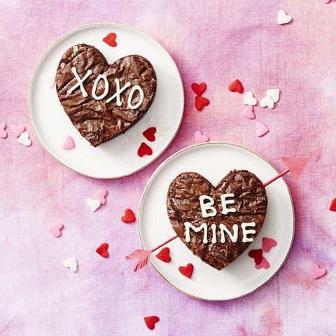 Brownie Hearts Valentine's Day Dessert