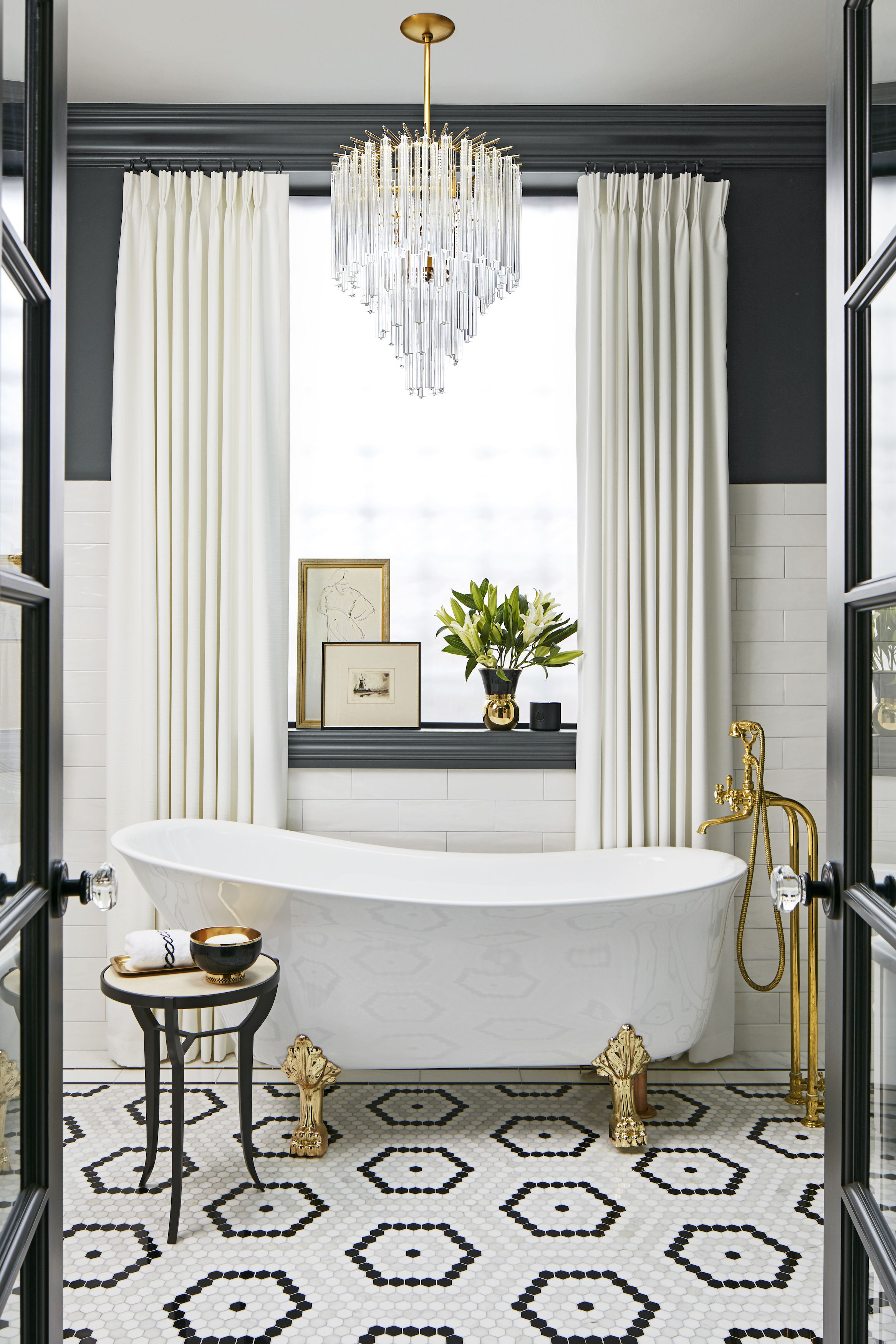 Black And White Bathroom Wall Color Ideas 12 best bathroom paint colors - popular ideas for bathroom wall colors
