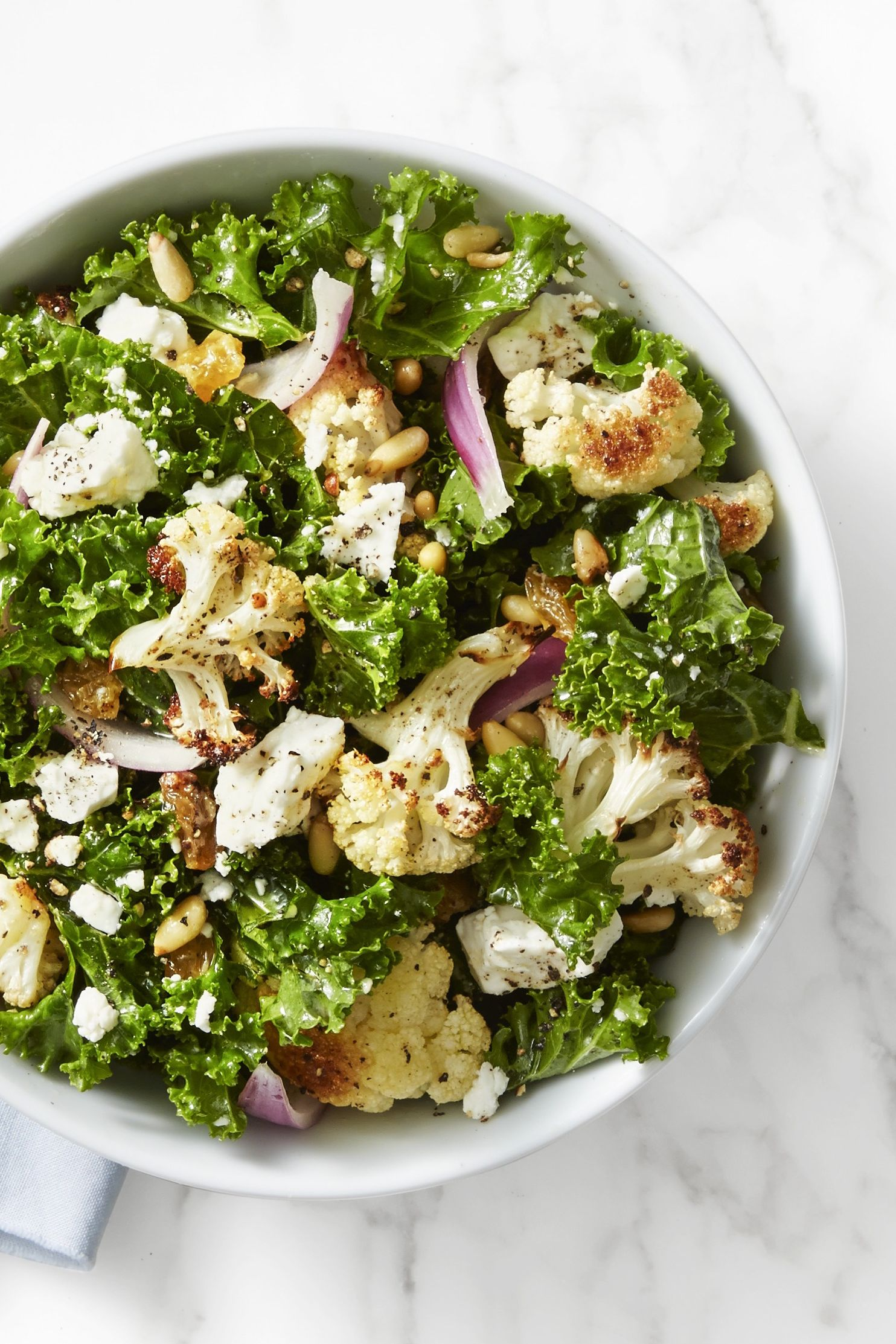 Kale and Roasted Cauliflower Salad