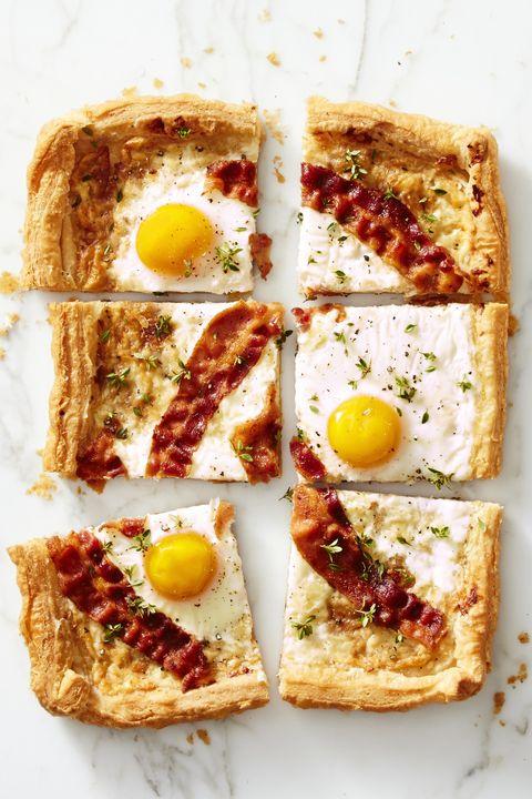 easy egg recipes - bacon gruyere breakfast pie