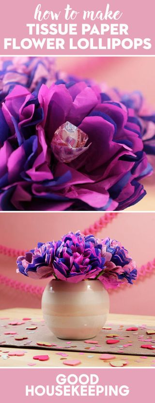 How to make tissue paper flower lollipops valentines day diy projects image mightylinksfo
