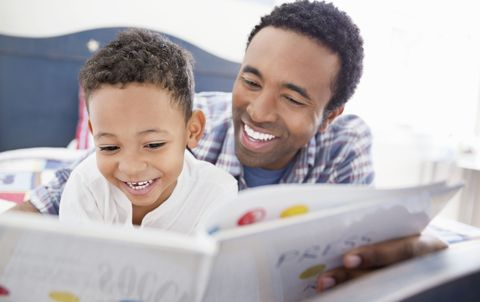 Dad Reading to Son