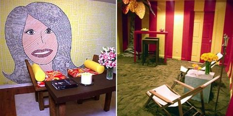 Furniture, Room, Table, Coffee table, Lamp, Snack, Fruit, Fast food, Armrest,
