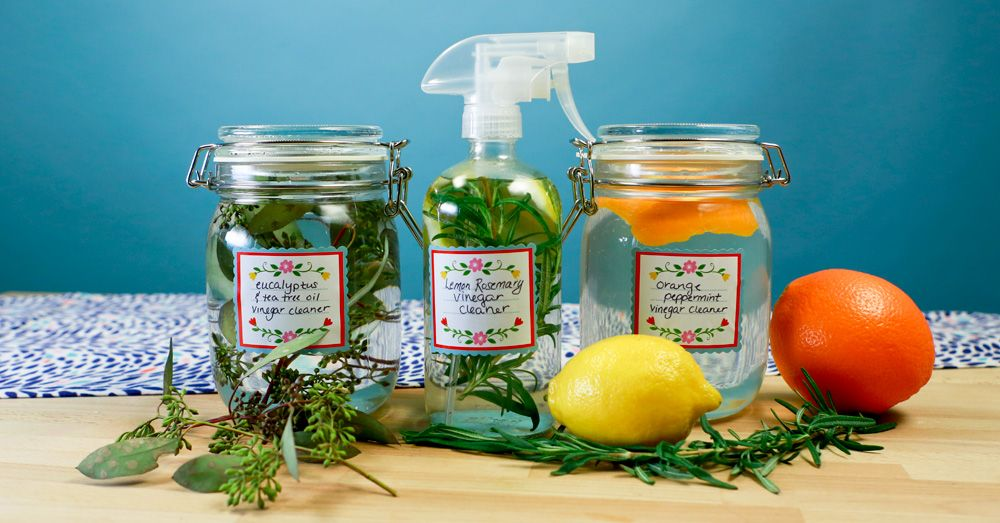 Scented DIY Vinegar Cleaners - DIY Natural Home Cleaners