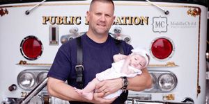 firefighter marc hadden adopts baby he delivered