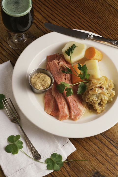 Corned Beef with Cabbage and Potatoes - St Patrick's Day Food