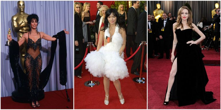 36 Most Scandalous Oscars Dresses of All Time - Best and Worst Gowns