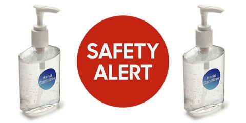 Hand Sanitizer Safety Alert