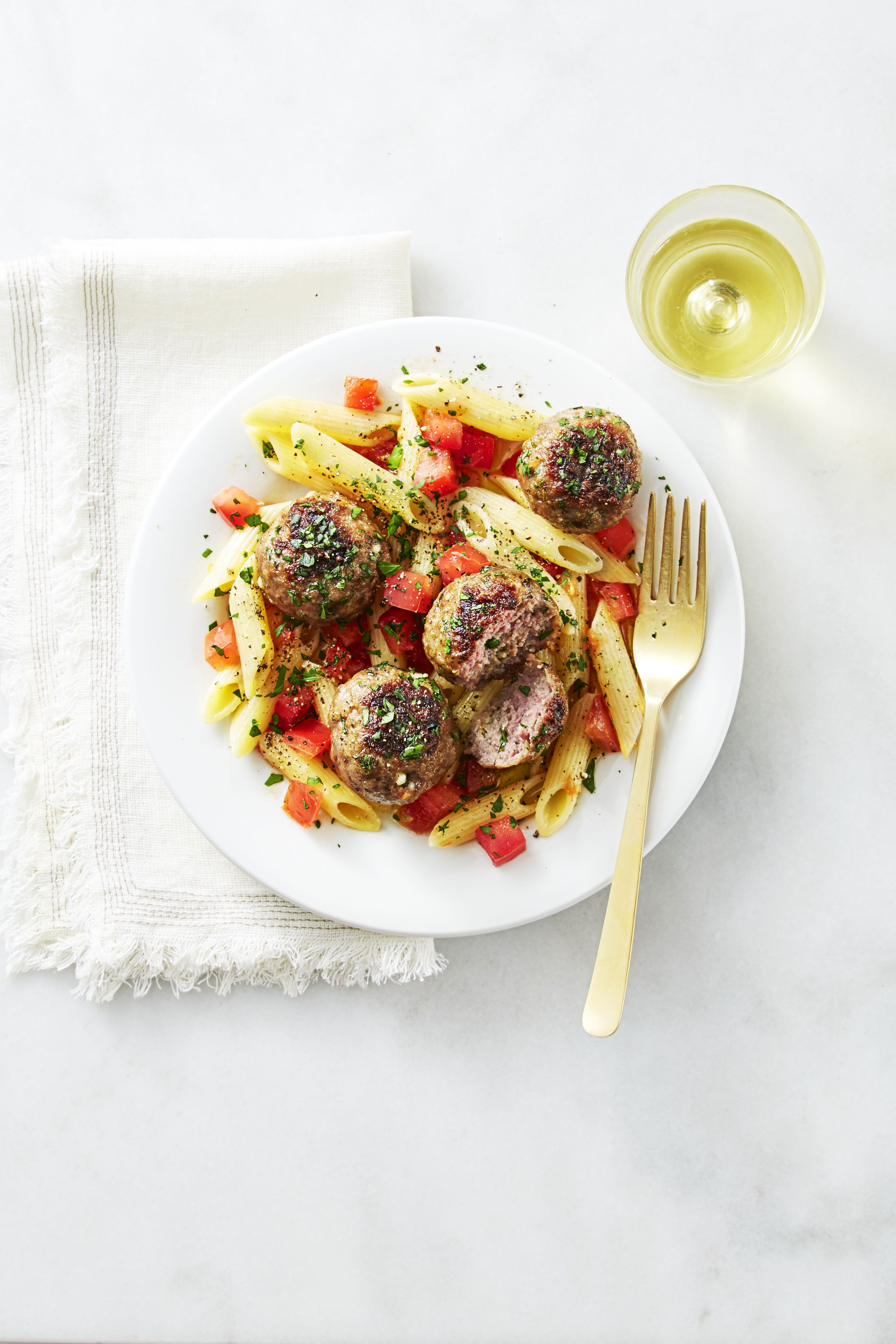 grilled rosemary lamb meatballs