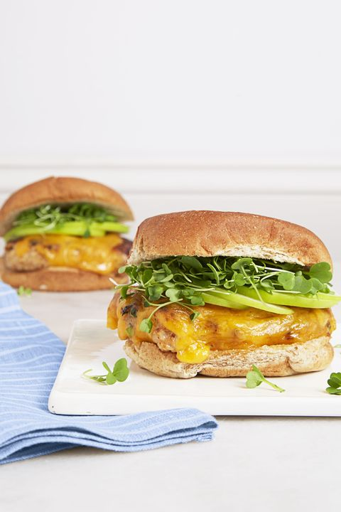BBQ Chicken & Cheddar Burgers - Mother's Day Dinners
