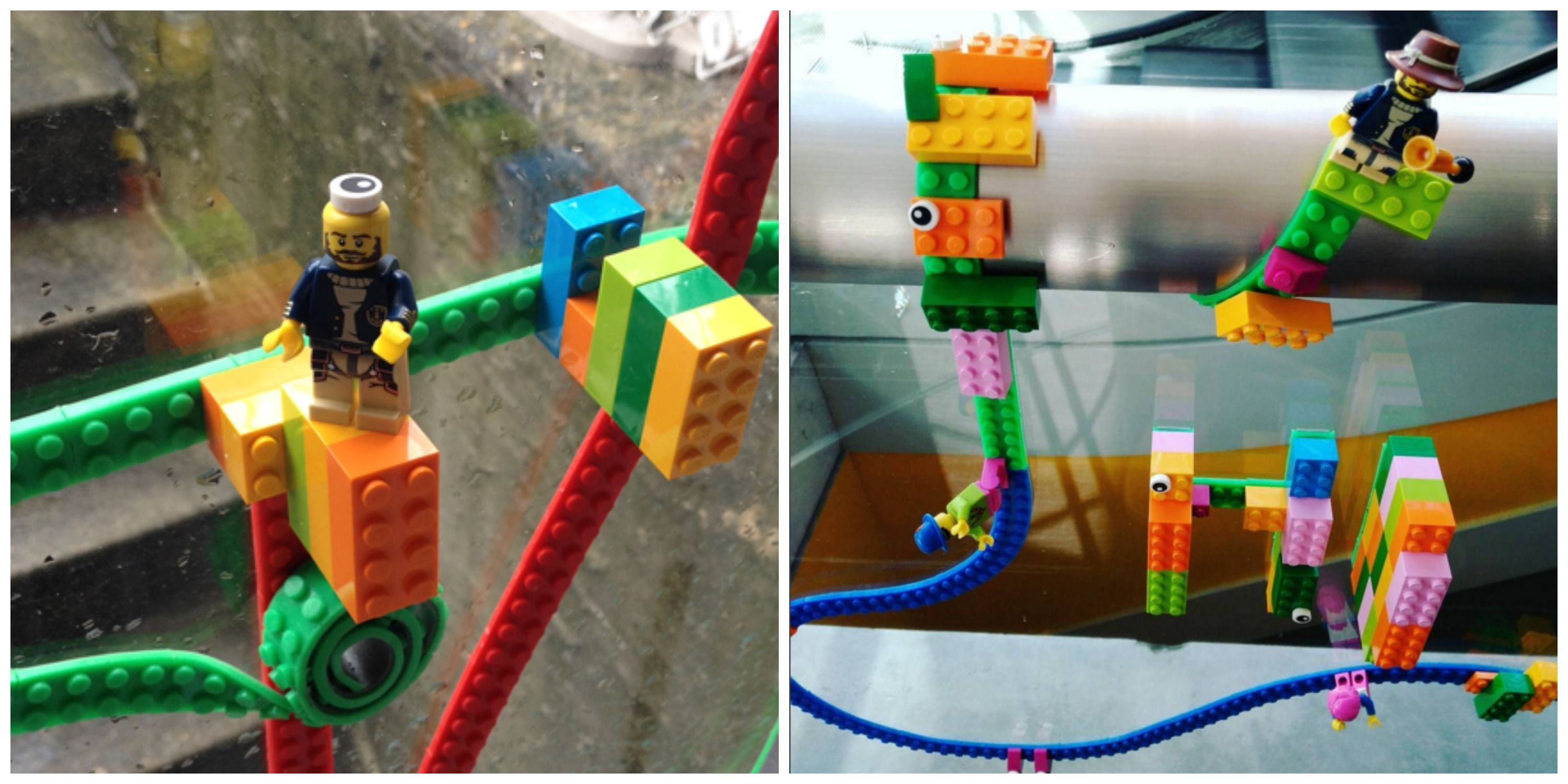 Get Your Kid Lego Tape And Watch Him Build A World On The Walls