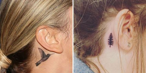 25 behind the ear tattoos behind the ear tattoos for women for Tattoo under hairline