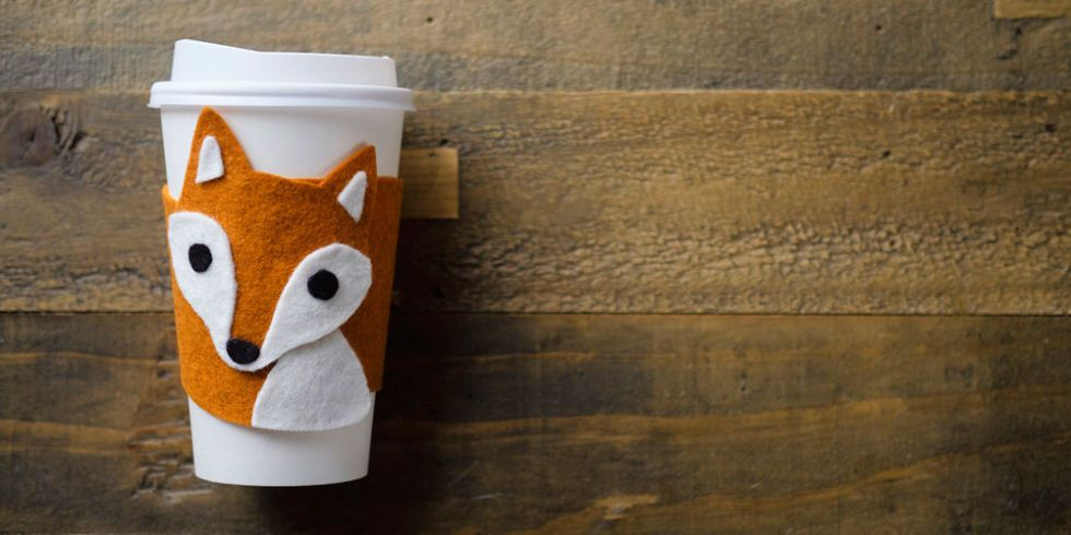 nice craft ideas how to make a felt fox cup cozy diy projects 2556