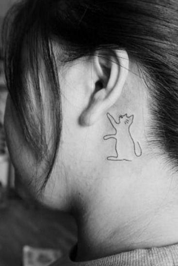 007574a60 25 Behind the Ear Tattoos - Behind the Ear Tattoos for Women