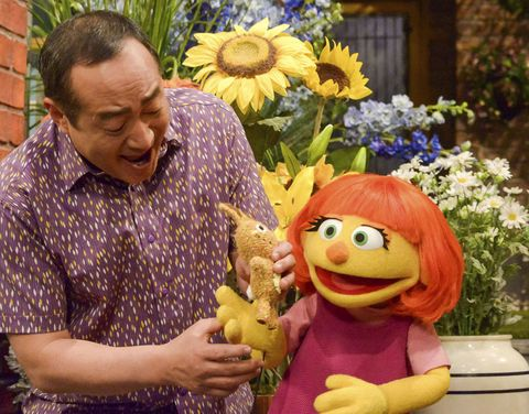 Julia, Sesame Street's character with autism